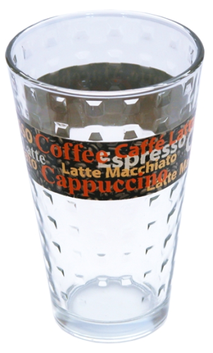 Glasbecher Coffee 8,7 x 13,5 cm