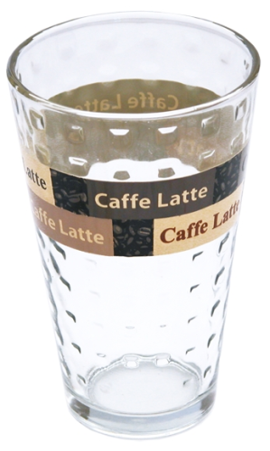 Glasbecher Caffe Latte 8,7 x 13,5 cm