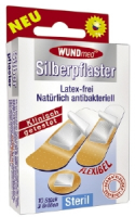 Silberpflaster 10er steril, flexibel,latexfrei