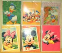 Grußkarten Mickey Mouse o. Text 6er Pack