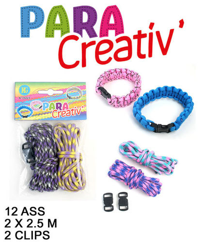 Schmuck Paracord Armband 2,50M x2 + 2 Clips