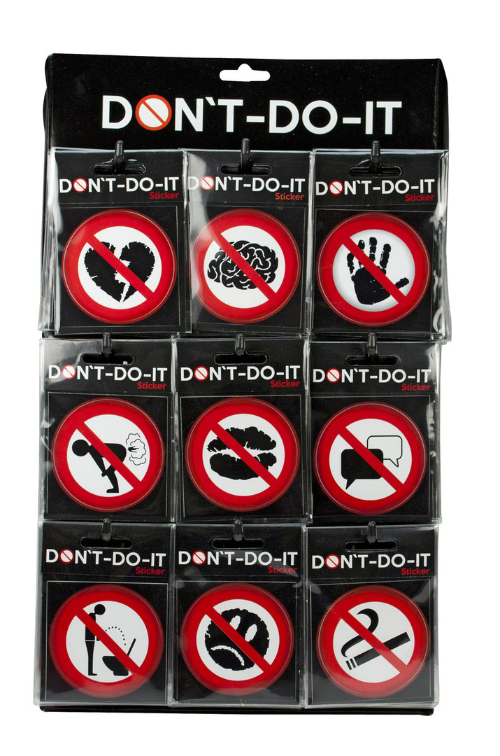 DONT-DO-IT Sticker 9 fach sortiert