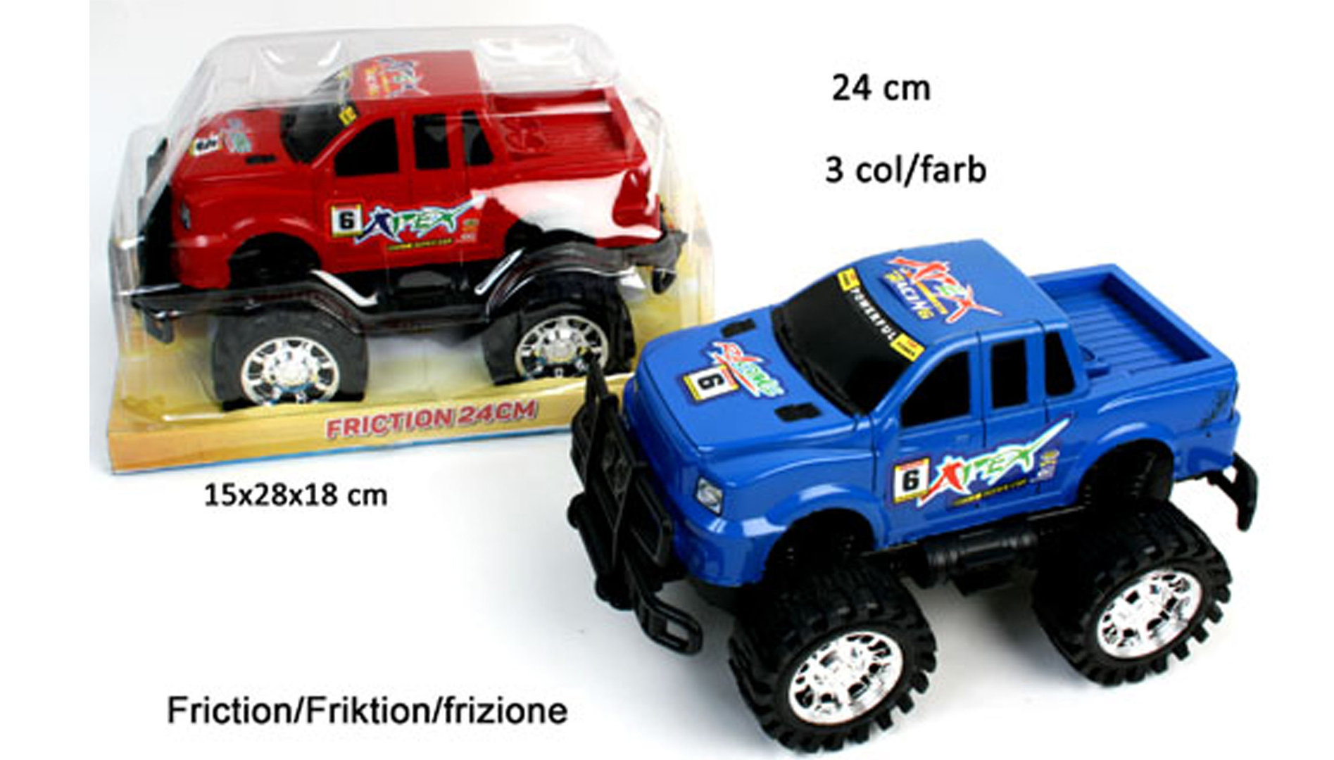 Auto 4x4 24 cm Pick Up Friktion